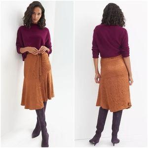 Anthropologie Maeve Tamra Jacquard Midi Skirt